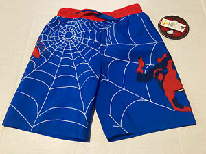 NWT Marvel Spider-Man swim trunk 4 Boys Mesh Netted Lined