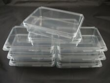 8 NEW Clear Plastic Storage Cases Small 4x3 - Rubber Stamps, Crafts, Hardware