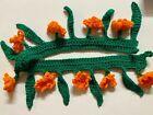 TORAN BANDHANWAR DOOR HANGING INDIA Crochet marigold flowers+leaves -USA SELLER