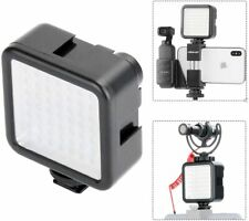 LED Video Light W49 Pocket Mini Video Lighting with 3 Cold Shoe Mount Vlog Photo