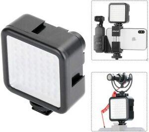 LED Video Light W49 Pocket Mini Video Lighting with 3 Cold Shoe Mount Vlog Photo