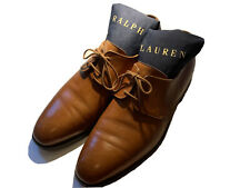 Mens Polo Ralph Lauren Tan Leather Derby Shoes England Crockett Jones 10D