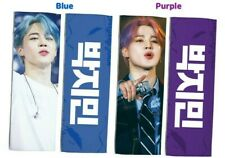 BTS Jimin white reflection slogan(Blue or Purple)+2 deco stickers,3 photocards