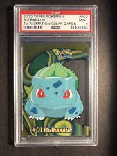 Pokemon PSA 9 Topps TV Clear Card PC2 Bulbasaur Mint 2000