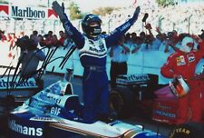 Signed Damon Hill Photo 12x8. Free Postage,F1.Grand Prix.Motor Racing *Charity*