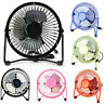 """4"""" Small/Mini High Velocity Metal USB Room Table/Desk Top Personal Cooling Fan"""