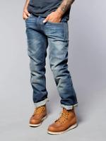 Nudie Herren Regular Fit Jeans Hose - Average Joe Perfect Blue - W38 L34
