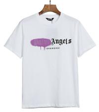 Palm Angels Men's Alphabet Graffiti Cotton Loose Short -sleeved T-shirt New 2020