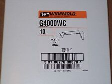 New Box of 10Pcs Wiremold G4000Wc Wire Clip for Surface Mount Raceway P200