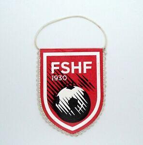 Football Federation of Albania, FSHF. Small cardboard Flag Pennants.