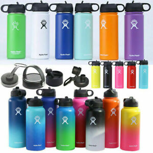 32oz 40oz Hydro Flask Insulated Mouth Lid Straw Bottle Stainless Water Cup Gift