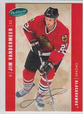 2005-06 UD PARKHURST JIM VANDERMEER /100 FACSIMILE AUTO PARALLEL #114 Blackhawks