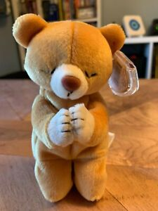 Ty Beanie Baby Hope Praying Bear 1998 Mint Condition with Tags