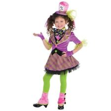 Girls Mad Hatter Costume Tea Party Teen Fancy Dress Book Day Week Outfit 6-8 yrs