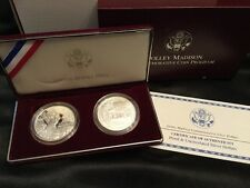 1999P Dolly Madison Silver Dollar  2 Coin Set Designed By Tiffany & Co.