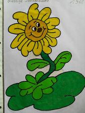 Window Color Fensterbilder Deko Blumen Sonnenblume