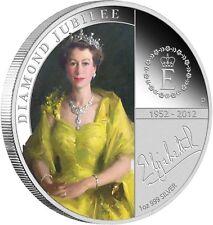 Australia 2012 $1 Dollar Diamond Jubilee Queen Elisabeth II 1 oz fine silver