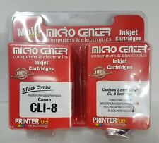 Micro Center,Remanufactured Canon CLI-8 Color Ink Cartridge 8-Pack