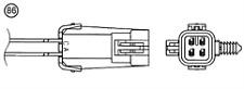 LAMBDA SENSOR FITS VAUXHALL VECTRA B 2.2 NTK OZA707-EE1
