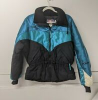 Vintage Polaris Jacket Coat Womens Snowmobile Jacket Medium Blue Purple Teal USA