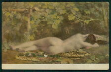 art Costa nude big butt bacchanale woman old c1910s Type Salon de Paris postcard