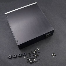 Full Aluminum Breeze Audio Chassis Enclosure Case Preamp Box New Black DIY Set