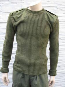 Pullover Oliv Englische / Britische Armee Pulli, Strickpullover, Bundeswehr