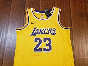 Los Angeles Lakers Lebron James Gold Jersey sz 48