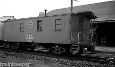 New York Central (NYC) Caboose #19369 Black & White Print