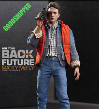 HOT TOYS 1985 BACK TO THE FUTURE MARTY MCFLY MICHAEL J. FOX SPECIAL GUITAR READY