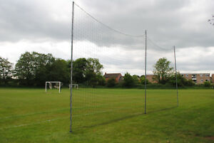Football Ball Stop Posts - 15m long with posts and nets - Made in the UK