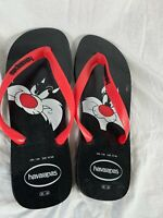Men's Havaianas Flip Flops - UK Size 11 - 12- Looney Tunes Sylvester - NEW