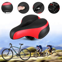 Comfort Extra Wide Big Bum Bike Bicycle Gel Cruiser Sporty Soft Pad Saddle Seat