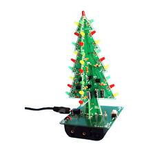 1PCS Christmas Trees LED DIY Kit Professional Red Green Flash LED Circuit