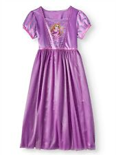 Disney Princess Tangled Rapunzel Short Sleeve Nightgown Pajama Girl Size 6
