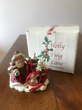 Dave Grossman Creation Holly Twig Lane 2003 Chistmas Collectible