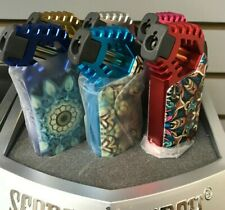 "3 x Scorch 4-1/4"" Torch Lighter Metal Flame Adjustable Refillable color vary"