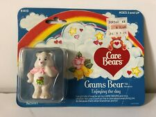 Vintage 1980s Care Bears Grams Bear Miniature Figure Kenner Sealed Card Damage