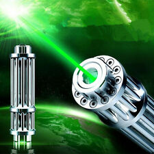 High Power Laser Pointer Pen Green 532nm Bright Lazer Zoomable Beam 5 Star Caps