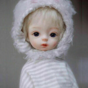 """BJD 10"""" SD Girl Doll Cute Boy Resin Bare Ball Jointed Doll+Eyes+Face Makeup Gift"""