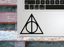 Deathly Hallows Macbook palmrest decal / Laptop sticker / fun decal stencil