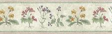 Vintage Wallpaper Border Botanical Floral Cottage Cream Yellow UK Crown 76813