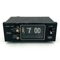 Copal Flip Table Alarm Clock MG-111 Black Vintage TESTED WORKS