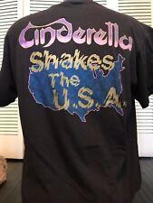 VTG Cinderella 86 Shakes Tour Shirt Sz XL Rock Crue Metal Jovi Skid Ratt Kix Dio