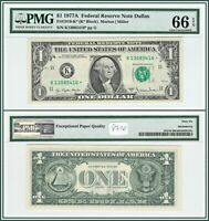1977A Star $1 Dallas Federal Reserve Note PMG 66 EPQ Gem Unc FRN Dollar