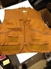 Cabelas Duck Hunting Vest 3XL Tan/Brown Cotton/ Nylon Seems To Hold 26 Shells