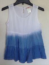 Kandy Kiss Girls Ombre Tiered Tank Top Dip Dye Chambray Size M Medium NWT New