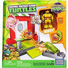 Mega Bloks Teenage Mutant Ninja Turtles Pizzeria Hideout w/ Mikey 54 pcs New!