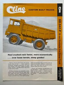 cline custom built truck SD-542-P vintage dump truck brochure C.1965 earthmoving