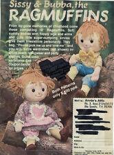 Ragmuffins Twins - Sissy and Bubba Doll Patterns